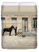 The Groom  Duvet Cover by Giuseppe De Nittis