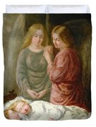 The Guardian Angels  Duvet Cover by Joshua Hargrave Sams Mann