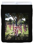 The Healing Field Duvet Cover by Laurel Powell
