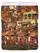 The Holy Ganges Duvet Cover by Steve Harrington