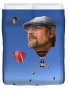 The Hot Air Surprise Duvet Cover by Mike McGlothlen