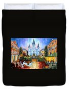 The Hours On Jackson Square Duvet Cover by Diane Millsap