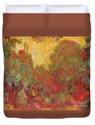 The House Seen From The Rose Garden Duvet Cover by Claude Monet