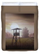 The Hunting Lodge In The Field Duvet Cover by Andreja Dujnic