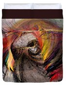 The Huntress-abstract Art Duvet Cover by Karin Kuhlmann