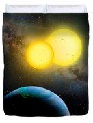 The Kepler 35 System Duvet Cover by Movie Poster Prints
