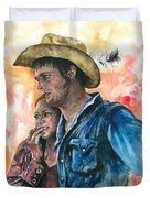 The King And His Queen Duvet Cover by Kim Whitton