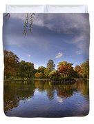 The Lagoon - Boston Public Garden Duvet Cover by Joann Vitali