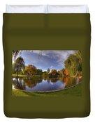 The Lagoon - Boston Public Garden Duvet Cover by Joann Vitali