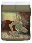 The Last Dream Before Dawn Duvet Cover by Dorina  Costras