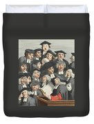 The Lecture, Illustration From Hogarth Duvet Cover by William Hogarth