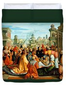 The Legend Of The Holy Cross Duvet Cover by Barthel Beham