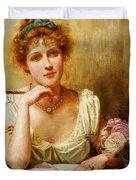 The Letter  Duvet Cover by George Goodwin Kilburne