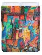 The Letter Tav 2 Duvet Cover by David Baruch Wolk