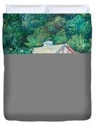 The Lodge at Peaks of Otter Duvet Cover by Kendall Kessler