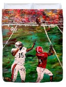 The Longest Yard Named  Duvet Cover by Mark Moore