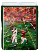 The Longest Yard Named  Duvet Cover by Mark Moore