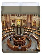 The Main Reading Room Of The Library Of Congress Duvet Cover by Allen Beatty