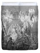 The Mariner Sees The Band Of Angelic Spirits Duvet Cover by Gustave Dore