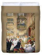 The Marriage At St Georges Chapel Duvet Cover by English School
