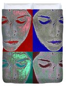 the mask Duvet Cover by Stylianos Kleanthous
