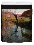 The Mill Stream Duvet Cover by Fritz Thaulow