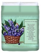 The Miracle Of Friendship Duvet Cover by Barbara Griffin
