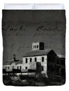 The Most Haunted House In Spain. Casa Encantada. Welcome To The Hell Duvet Cover by Jenny Rainbow