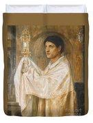 The Mystery Of Faith Duvet Cover by Simeon Solomon