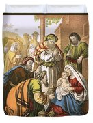 The Nativity Duvet Cover by English School