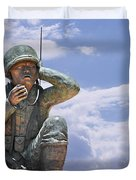 The Navajo Code Talkers Duvet Cover by Christine Till