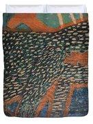 The Non-erring Line Is A Papercut Duvet Cover by Nancy Mauerman