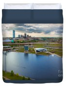 The Oklahoma River Duvet Cover by Cooper Ross