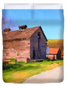 The Old Barn 5D22271 Duvet Cover by Wingsdomain Art and Photography