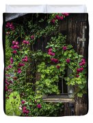 The Old Barn Window Duvet Cover by Debra and Dave Vanderlaan