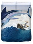 The Old Man And The Sea Duvet Cover by Harry G Seabright