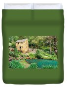 The Old Mill - North Little Rock - Pugh's Mill 1832 Duvet Cover by Gregory Ballos
