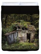 The Old Shack In The Woods - Autumn At Long Pond Ironworks State Park Duvet Cover by Gary Heller