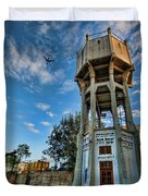 The Old Water Tower Of Tel Aviv Duvet Cover by Ron Shoshani