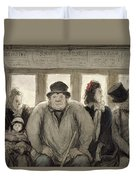 The Omnibus Duvet Cover by Honore Daumier