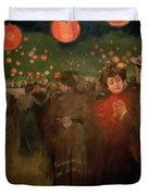 The Open Air Party Duvet Cover by Ramon Casas i Carbo