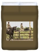 The Other Side Of The Saddle Duvet Cover by Linsey Williams