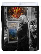 The Painter And His Paintings Duvet Cover by Erik Brede
