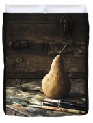 The Painter's Pear Duvet Cover by Amy Weiss