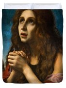 The Penitent Magdalen Duvet Cover by Carlo Dolci