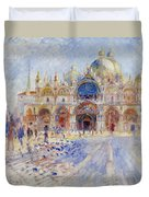 The Piazza San Marco Duvet Cover by Pierre Auguste Renoir