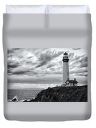 The Pigeon Point Beacon Duvet Cover by Eduard Moldoveanu