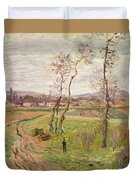 The Plain At Gennevilliers Duvet Cover by Claude Monet