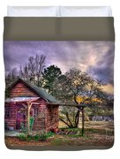 The Play House At Sunset Near Lake Oconee. Duvet Cover by Reid Callaway