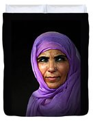 The Purple Sari Duvet Cover by Diana Angstadt